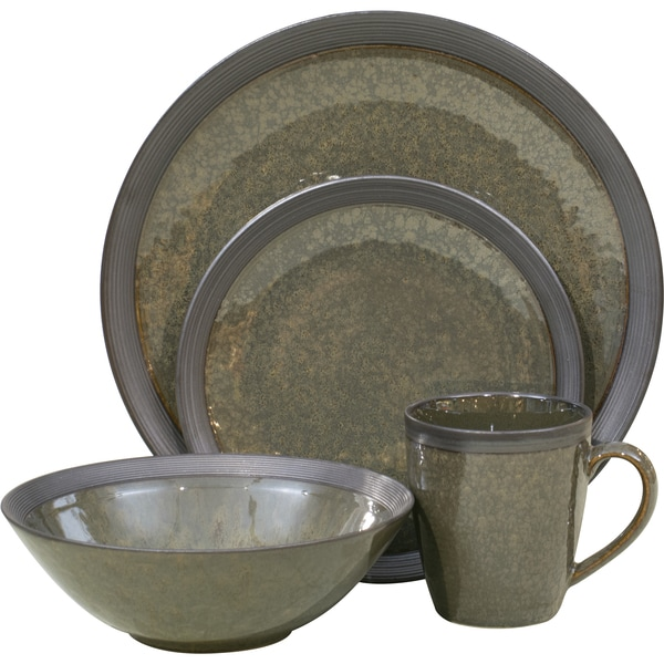 Omega Olive 16-piece Dinnerware Set  sc 1 st  Overstock & Shop Omega Olive 16-piece Dinnerware Set - Free Shipping Today ...