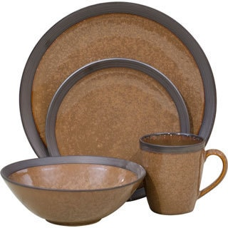 Omega Cocoa 16-piece Dinnerware Set