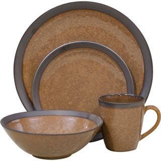 Omega Cocoa 16-piece Dinnerware Set