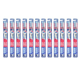 Oral-B Pro-Health CrossAction 7 Soft Bristle Toothbrush (Pack of 12)