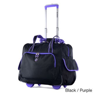 Olympia Rave Deluxe Fashion Rolling Overnighter Carry-on Tote Bag (3 options available)