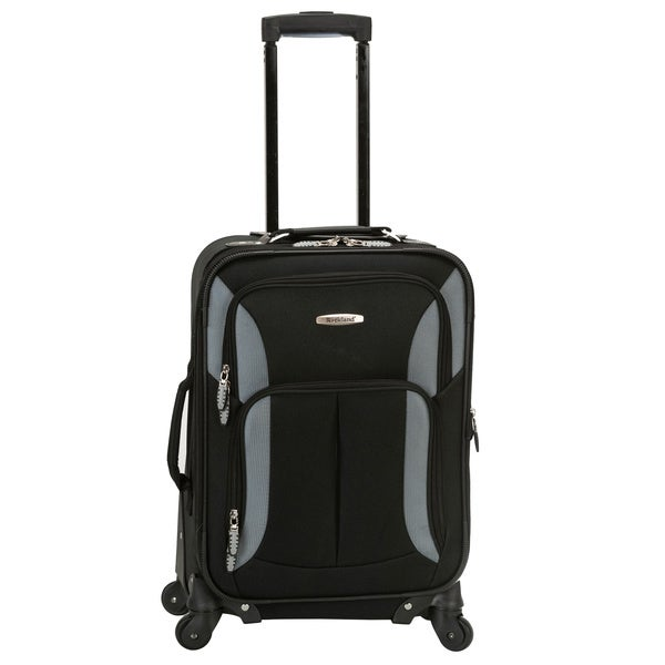 Rockland Light 20-inch Expandable Carry-on Spinner Upright Suitcase