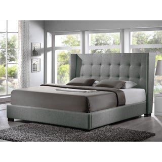 Baxton Studio Luna Grey Linen Platform Bed