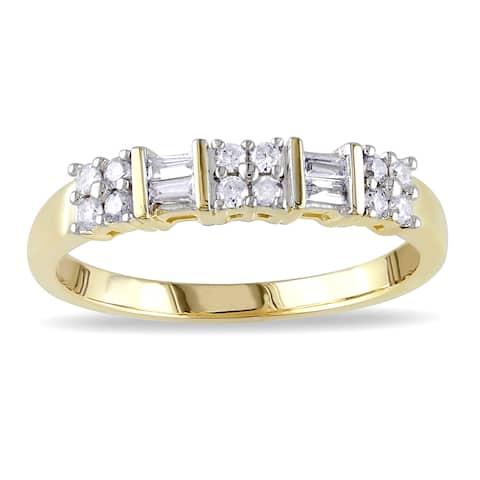 Miadora 10k Yellow Gold 1/4ct TDW Diamond Ring