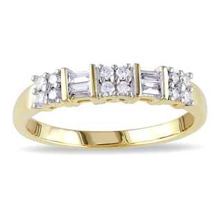 Miadora 10k Yellow Gold 1/4ct TDW Diamond Ring