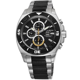 Akribos XXIV Men's Quartz Multifunction Stainless Steel Silver-Tone Bracelet Watch with Gift Box