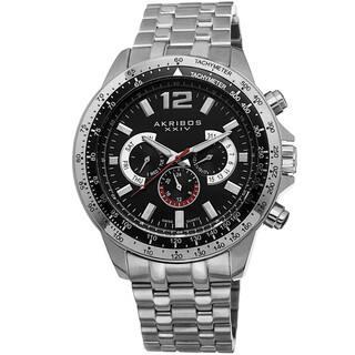 Akribos XXIV Men's Quartz Multifunction Tachymeter Stainless Steel Silver-Tone Bracelet Watch with FREE GIFT|https://ak1.ostkcdn.com/images/products/8749686/Akribos-XXIV-Mens-Quartz-Multifunction-Tachymeter-Stainless-Steel-Bracelet-Watch-P15994490.jpg?impolicy=medium