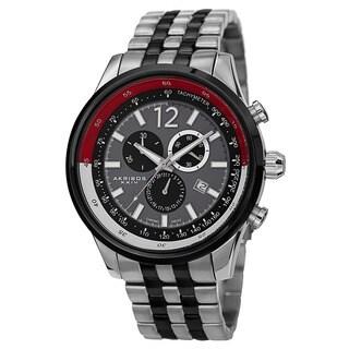 Akribos XXIV Men's Chronograph Tachymeter Stainless Steel Two-Tone Bracelet Watch