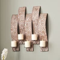 Clay Alder Home Liberty Antiqued Silver Wall Mount Candelabra