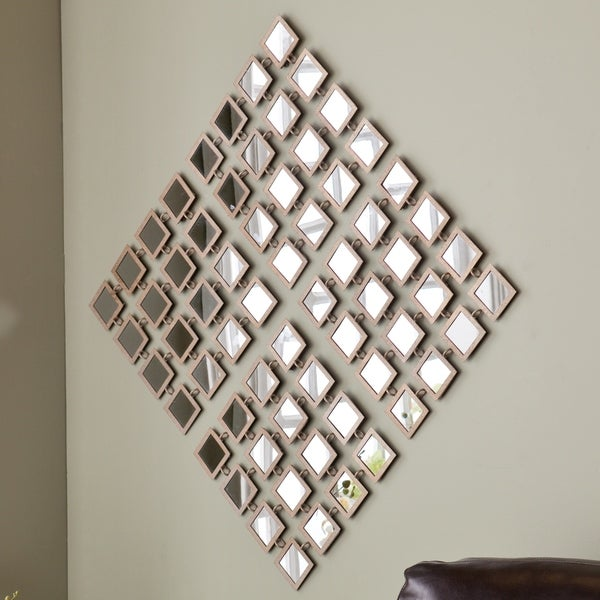 Shop Upton Home Taza Mirrored Grid 4pc Wall Panel Set