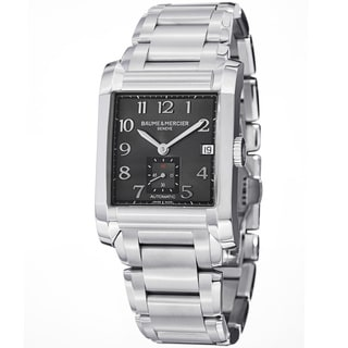 Baume & Mercier Men's MOA10048 'Hampton' Grey Dial Stainless Steel Watch