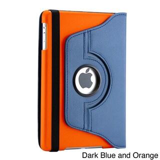 Gearonic PU Leather Case Smart for Apple iPad Mini/ Mini Retina/ Mini 3 Case (Option: Dark blue and orange)