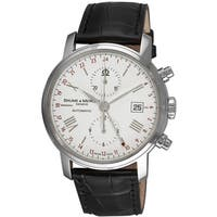 Baume & Mercier Men's MOA08851 'Classima Executives' Chronograph Automatic Black Leather Watch