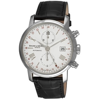 Link to Baume & Mercier Men's MOA08851 'Classima Executives' Chronograph Automatic Black Leather Watch Similar Items in Men's Watches