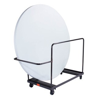 Black Round Folding Table Dolly