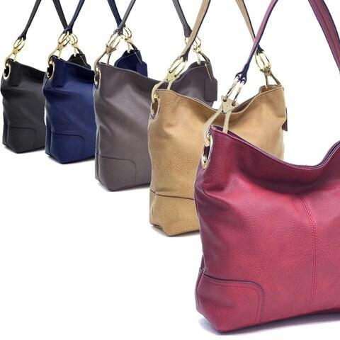 Dasein Patched Corner Hobo Handbag
