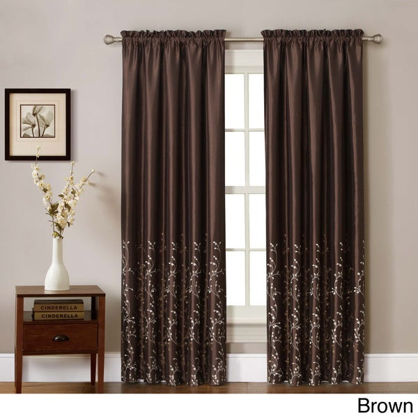 VCNY Felice Embroidered Curtain Panel