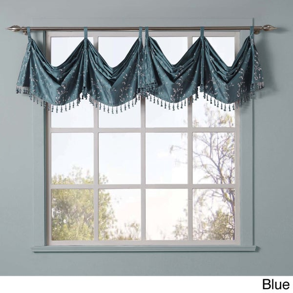 VCNY Felice Embroidered Window Valance