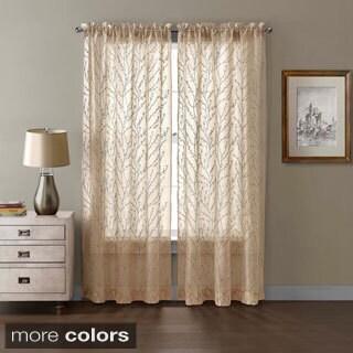 VCNY Berkley Floral Pattern Curtain Panel