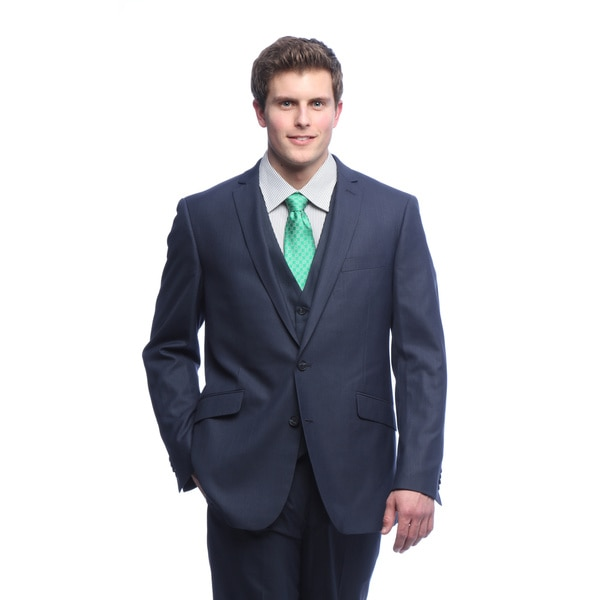 Kenneth Cole Reaction Men's Ink Blue Suit Separates Coat - Free ...