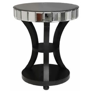 Wood and Mirror Accent Table (China)