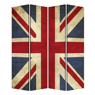 Handmade Union Jack Printed Canvas Screen (China)