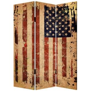 Handmade American Flag 3-panel Screen (China)