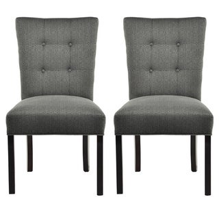 La Mode 4-button Stitched Fanback Candice Dining Chair (Set of 2)
