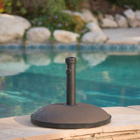 "Tulare Outdoor 66 lbs Circular Concrete Umbrella Base by Christopher Knight Home - 19.75""d"