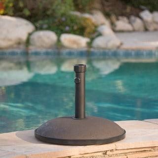 "Tulare Outdoor 66 lbs Circular Concrete Umbrella Base by Christopher Knight Home - 19.75""d"