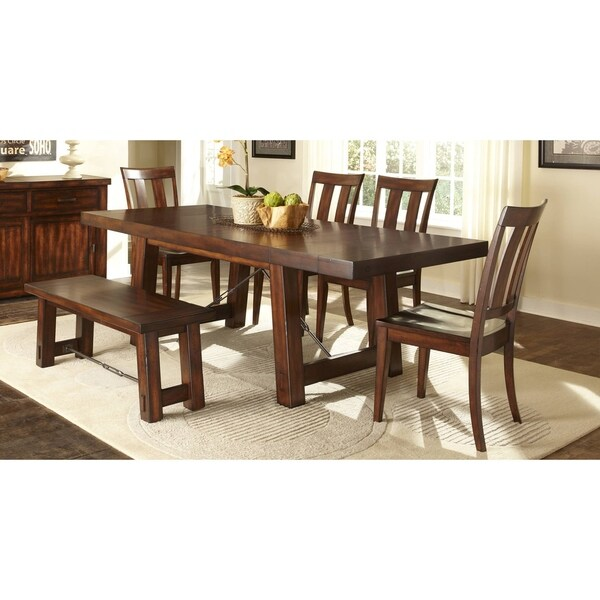 Liberty Tahoe 6 Piece Rustic Mahogany Dinette Set