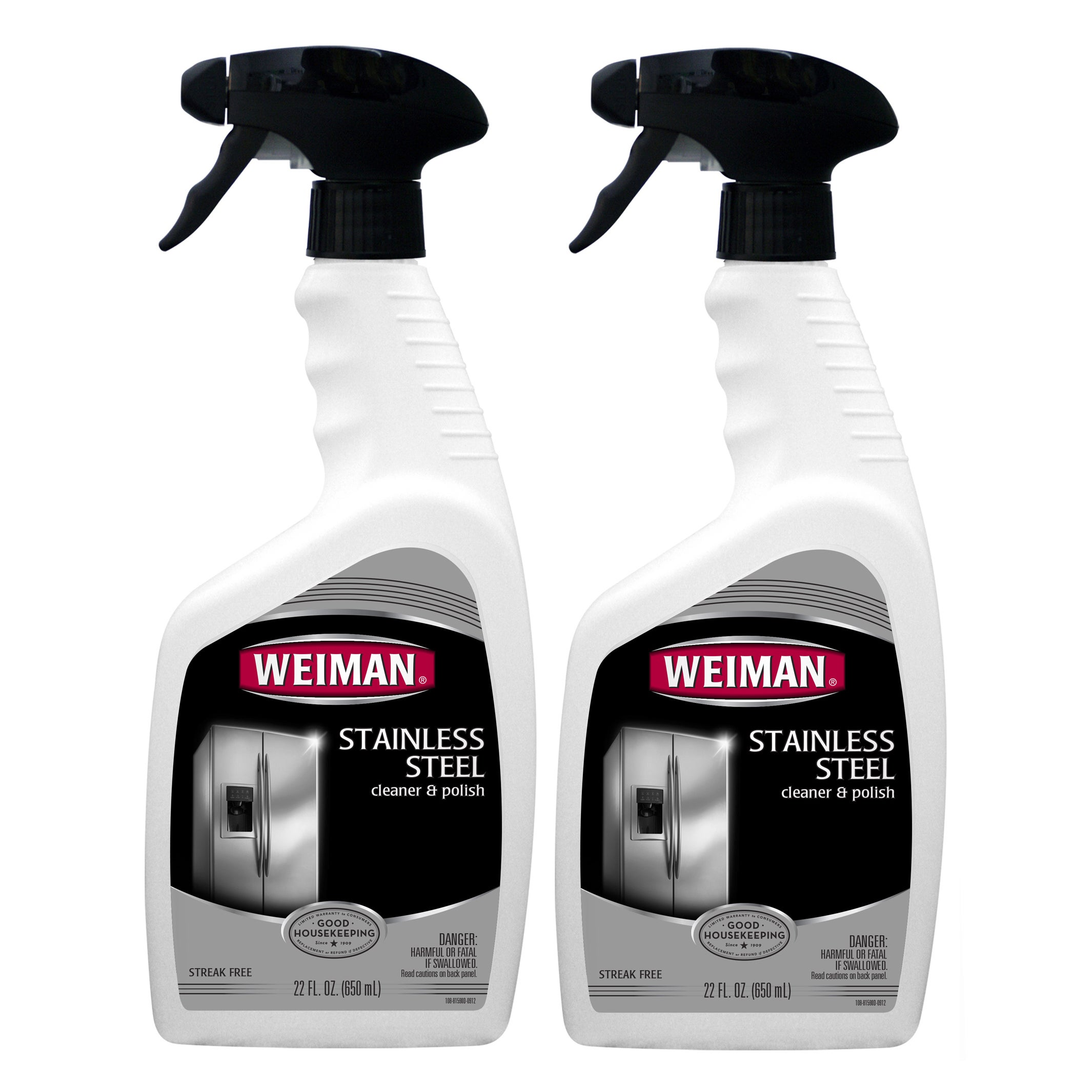 WEIMAN 22-ounce Stainless Steel Cleaner (Pack of 2) (Stai...