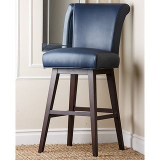 Shop Kent Royal Blue Bonded Leather Bar Stool Free