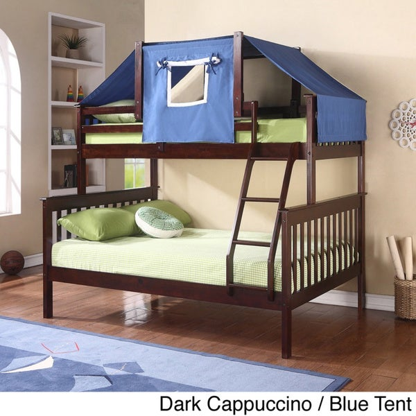 Shop Donco Kids Mission Tent Kit Bunk Bed Free Shipping