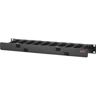 "APC Horizontal Cable Manager, 1U x 4"" Deep, Single-Sided with Cover"