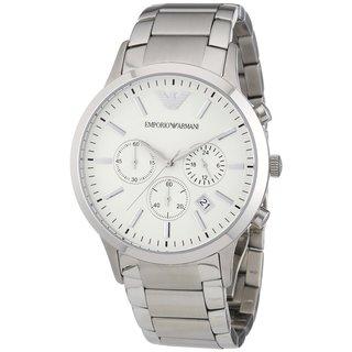 Emporio Armani Men's Sportivo AR2458 Silver Chronograph Watch