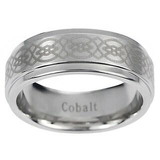 Vance Co. Men's Cobalt Engraved Celtic Design Band (8 mm) (More options available)