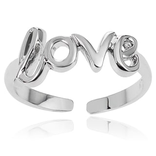 Journee Collection Sterling Silver Adjustable Love Toe Ring