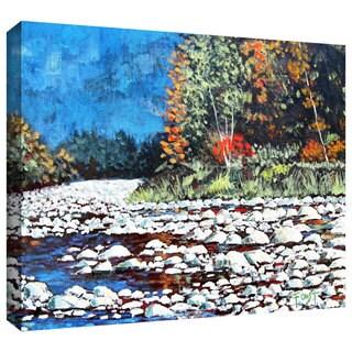 ArtWall Gene Foust 'Pebble Creek' Gallery-wrapped Canvas Art