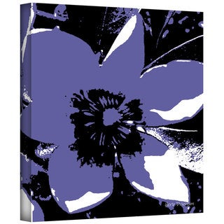 Art Wall Herb Dickinson 'Blooming Purple' Gallery-wrapped Canvas Art