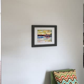 Richard Wallich 'Saco 10' Framed Matted Art