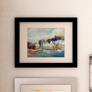Richard Wallich 'Dock' Framed Matted Art