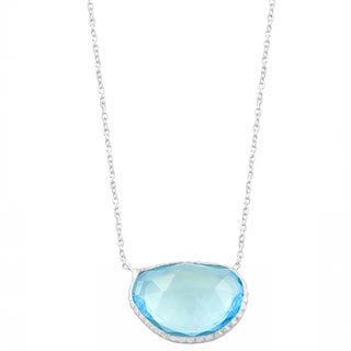 Fremada Sterling Silver Blue Topaz Necklace (18 inch)