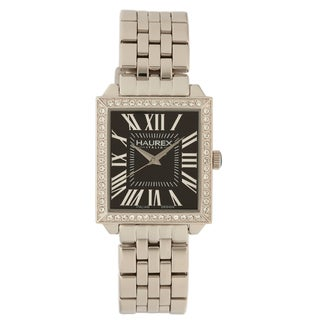 Haurex Italy Women's Prestige Stainless Steel Austrian Crystal Watch