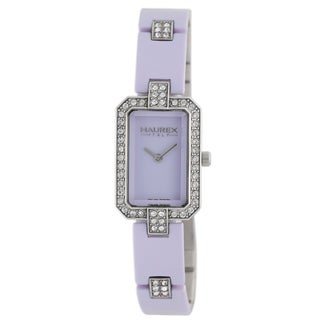 Haurex Women's Miroir Lilac Austrian Crystal Watch