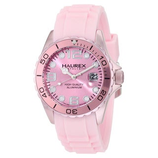 Haurex Italy Women's Ink Aluminum Date Watch
