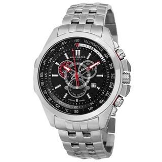 Akribos XXIV Men's Chronograph Tachymeter Stainless Steel Silver-Tone Bracelet Watch