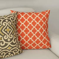 Clay Alder Home Kent Trails Orange Throw Pillow