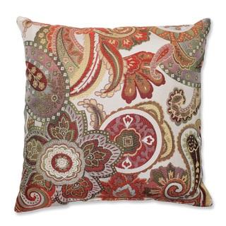 Delightful Crazy Rosewood Throw Pillow