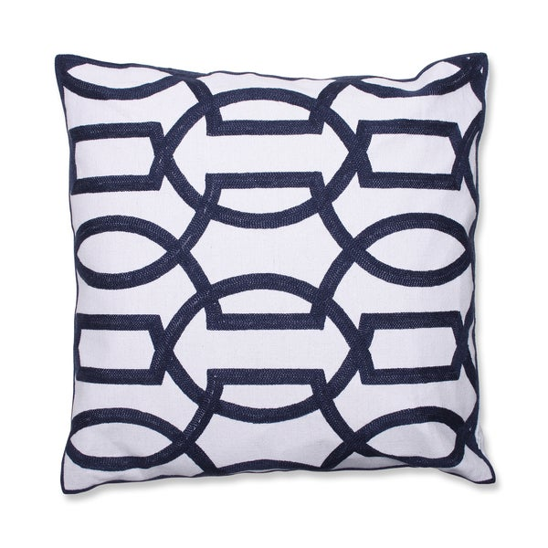 Modern Geometric 18-inch Embroidered Throw Pillow - Free Shipping On Orders Over $45 - Overstock ...